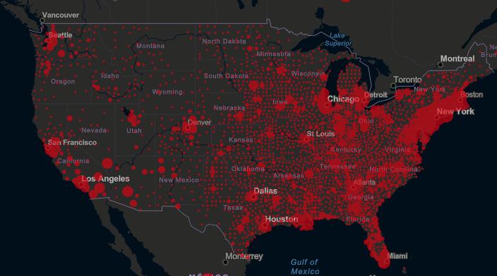 U.S. COVID-19 map